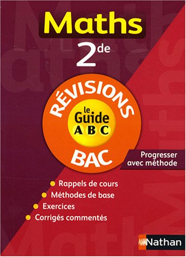GUIDE ABC MATHS 2E REVISIONS