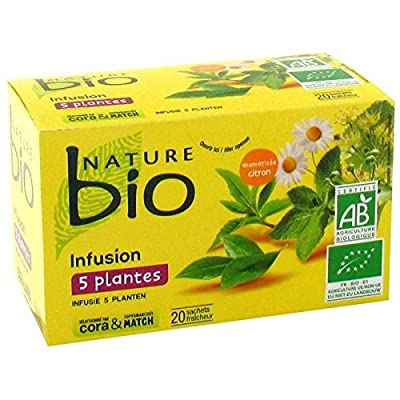 Nature bio infusion 5 plantes 20 sachets soit 30g - Livraison Gratuite pour les commandes en France - Prix Par Unité