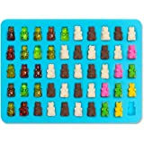 HENGSONG 2er Silikon 50 Mini Bär Formen mit Pipetten DIY Eiswürfel Form Kuchen Schokoladen Cookies Backen Form