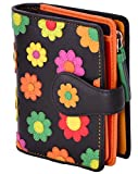 Visconti Twofold Leder Damen Geldbörse Daisy Floral Multicolor Purse(DS80):
