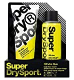 Superdry Sport Mens RE:vive Body Spray 200ml / Body + Face Wash 200ml Duo Gift Set