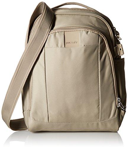 Pacsafe Metrosafe LS250 Diebstahlschutz Schultertasche, sandstein (beige) - 30425 (Purse Bag Sling)