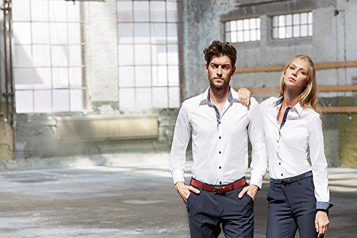 Greiff Damen-Bluse Modern with 37,5 Slim Fit, 6519 Weiß