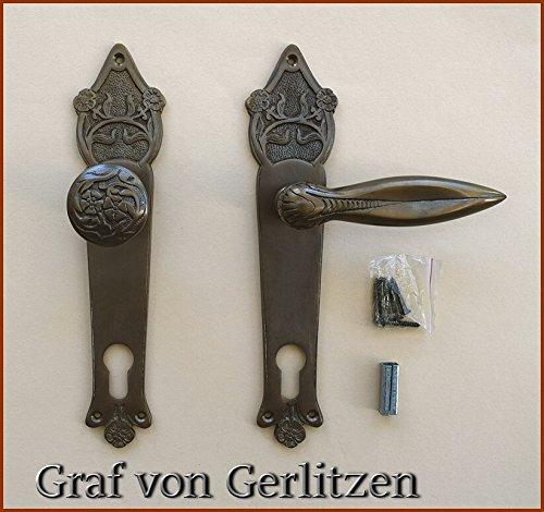 Graf von Gerlitzen Prunkgriffe Antik Messing Tür Haustüre PZ 92 Griffe Türgriffe Türbeschlag...