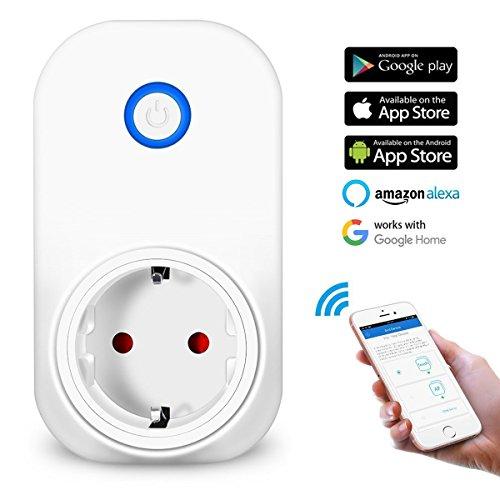 WLAN Steckdose, MECO Smart Wifi Steckdose intelligente Home Funksteckdose Funktioniert mit Amazon Alexa (Echo und Echo Dot) und Google Home App Steuerung für IOS und Android