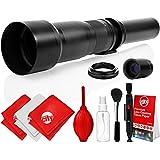 Opteka 650-2600mm High Definition Super Telephoto Zoom Lens For Canon EF Mount Digital SLR Photo Cameras (Black) + Premium 8-Piece Cleaning Kit