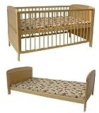 Kidsmax 2 in 1 Kinderbett umbaubar zum  Jugendbett 140x70 klar lackiert
