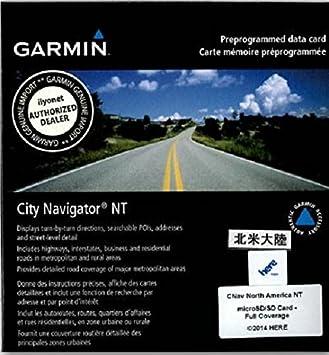 Garmin City Navigator North America Nt Mapping On Micro Sd Data Card Amazon Co Uk Electronics