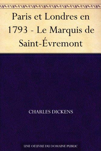 Couverture du livre Paris et Londres en 1793 - Le Marquis de Saint-Évremont