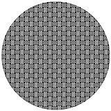 DecoHomeTextil Wachstuchtischdecke Wachstuch Tischdecke Gartentischdecke Rund Oval Robust Rattan Grau Rund 130 cm abwaschbare Wachstischdecke geprägt