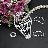 yunnuopromi Fire Ballon Cloud Sun Metall Formen handgefertigt DIY Schablonen Vorlage Prägung für Karte Scrapbooking Craft silber
