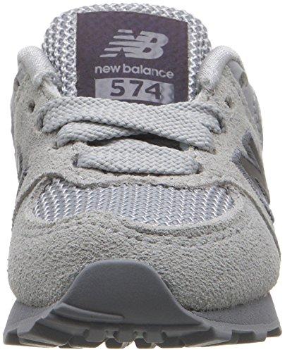 New Balance 574, Baskets Basses Mixte Enfant Gris (Grey)