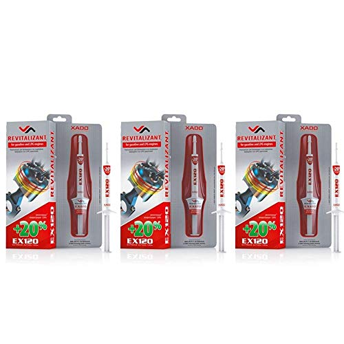 XADO Set per la riparazione e la protezione dall'usura - 3 x EX120 Revitalizant® per motori benzina e GPL, 3 x 8m