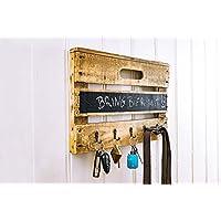 Schlüsselbrett aus Altholz Holz alter Obstkiste mit Tafellack für kleine Nachrichten, Handmade, Unikat, auch für Leinen, Handtücher etc.