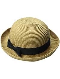Yuncai Donne Cupola Estivo Cappelli di paglia Bombetta Cappello della  spiaggia 875cd28715a3