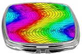 Rikki Knight Compact Mirror, Chromatic Mini Rainbow Squares