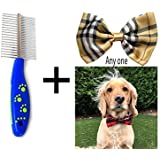 Douge Couture Dog And Cat Comb Double Sided With Stainless Steel Teeth Anti Shedding Brush Grooming Tool For Both Large And Small Pets