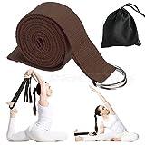 Price Xes Baumwolle, langlebig, Yoga-Gurt mit Schnalle D Riemen mit 1,8m–verstellbarer Ring mit, für Yoga, Stretching Allgemeine Fitness, Therapie, Pilates Fitness-Workouts, braun