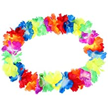 10 Pcs Collar de Flores de Hawaiana Multicolor Cadena Decorativo Tropical para Fiesta Playa