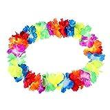 10 Pack JUYUAN-EU Blumenketten Hawaiiketten Multicolor Bunt Blumenkette Hawaiikette Silk Halsketten Blütenketten