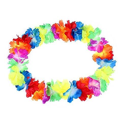 10 Pack JUYUAN-EU Blumenketten Hawaiiketten Multicolor Bunt Blumenkette Hawaiikette Silk