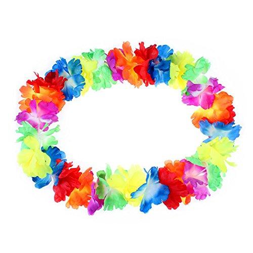 10-Pcs-Collar-de-Flores-de-Hawaiana-Multicolor-Cadena-Decorativo-Tropical-para-Fiesta-Playa