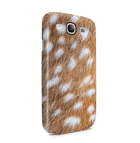Deer Skin Pattern Dünne Handy Schutzhülle Hardcase Aus Hartplastik Hülle Kompatibel mit Samsung Galaxy S3 Handyhülle Case Cover - Galaxy Samsung Deer S3 Handy Case