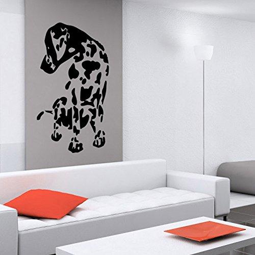 vinilo-decorativo-de-un-perro-dalmata-sentado-color-negro-medidas-55x95cm