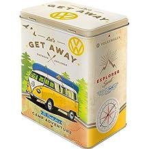"Nostalgic-Art 30136 Caja metálica de Volkswagen Bulli con texto ""Let's Get Away!"""