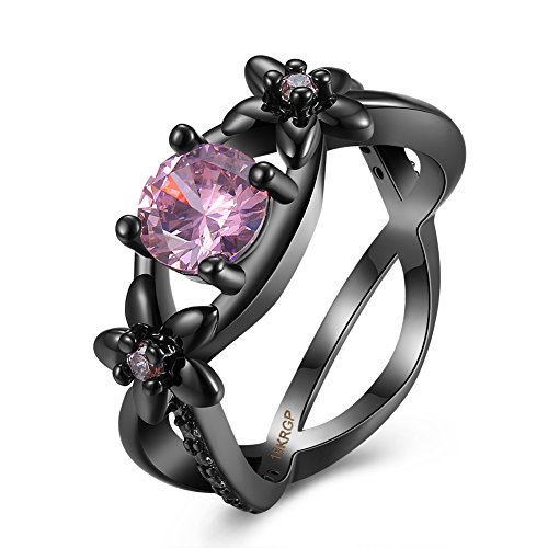 Kostüm Tintenfisch Rosa (Thumby Copper Black Gun Plated 5.1g Romantic The Hollow Diamond Ring Line for)
