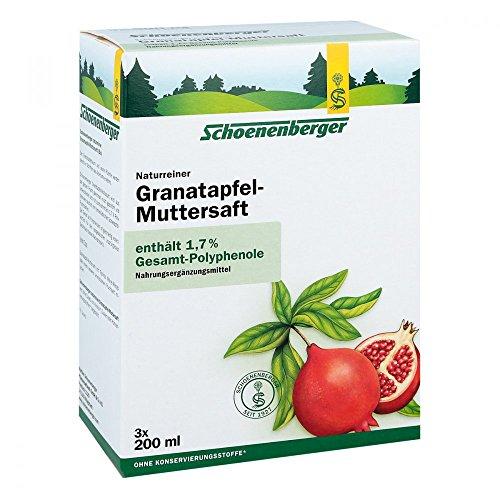 Schoenenberger Granatapfel-Muttersaft, 3x200 ml Saft