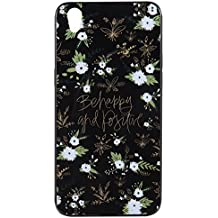 For Oppo R9 IMD Case Cover, Ecoway TPU Porcelain flower series Case Surrounded by diamonds Protective Cover Cell Phone Case for Oppo R9 - A4
