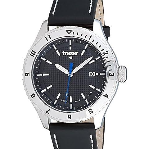 Reloj de pulsera automático suizo Traser maestro de Prestigio con el cristal de zafiro 105881