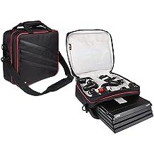 BUBM Sac de rangement PS4, sacoche de voyage Sac à main pour console de jeux PS4 Pro, moniteur et accessoires, léger, compact, adapté pour PS4, PS4 Slim, PS4 Pro, moniteur Plus, noir