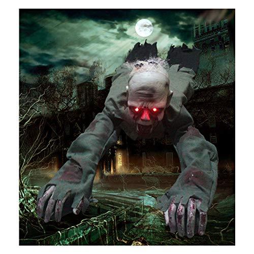 XIN1993 Halloween Voice Control elektrische kriechende Ghost/Augen leuchten Ghost Skull Schrecken Raum Spukhaus Bar Dekoration Requisiten