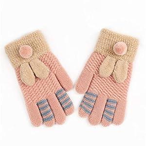 Wangcui Kinder Kinder Teenager Jungen Mädchen warme gemütliche Winter gestrickte Handschuhe (Farbe : E)
