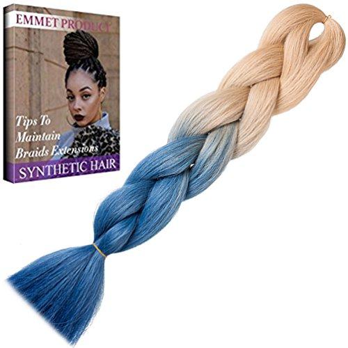 Jumbo Braids - Premium Qualität 100% Kanekalon Braiding Haarverlängerung Volle Synthetik Haar Ombre 24Inch 1Pc / lot Hitzebeständig, Garantie 1 Woche Änderung oder Rückerstattung (Farbe 73)