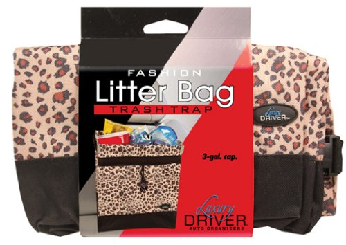 Price comparison product image Luxury Driver 12482 Leopard Fashion Litter Bag Trash Trap Organizer