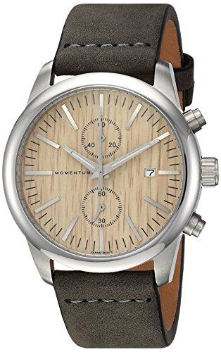 Momentum Mens Analog Japanese-Quartz Watch with -Leather Strap 1M-SN26C4G