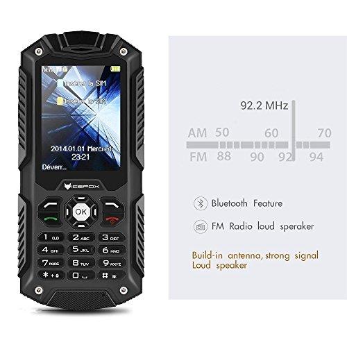 IceFox (TM) Dual Sim Outdoor Handy,2,4 Zoll Display,IP68 Wasserdicht,Stoßfest, Rugged Handy Ohne Vertrag mit Lautem Lautsprecher und Fahrradlicht - 7