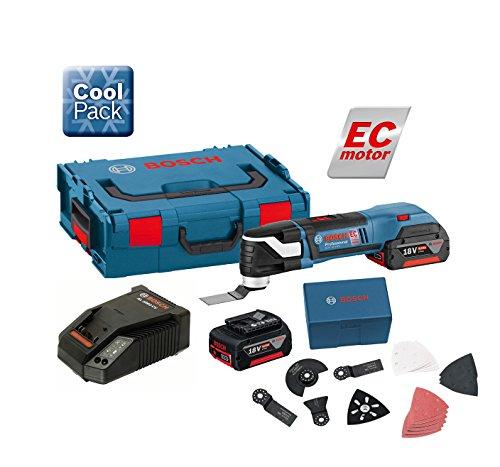 Preisvergleich Produktbild Bosch GOP18V-EC Mehrzweckwerkzeug, 2x 18V 4Ah + 20Stück Zubehör