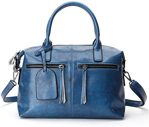 Xinmaoyuan Borse donna vacchetta spalla croce obliqua del pacchetto di borsette in pelle Sacchetto a cuscino Blue