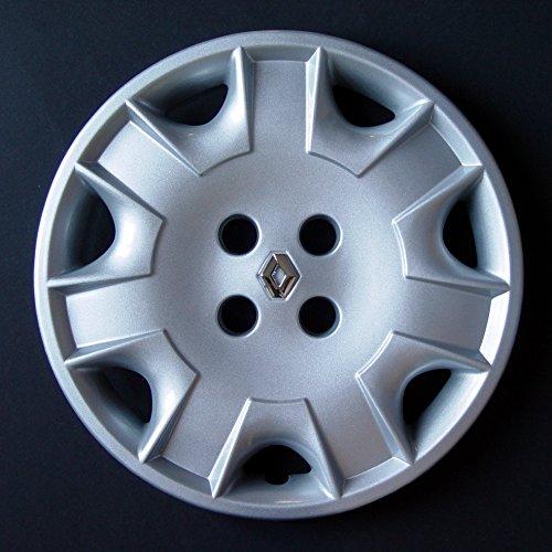 Jeu de 4 Enjoliveurs Neuf Pour Renault Laguna 1 / Clio 1 / Clio 2 / Twingo 1 / Megane 1 / Scenic 1 / Espace 2 / Espace 3 / Kangoo 1 Avec Roues Originales En 15 Pouces