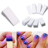 Dealglad 24 pc gradiente unghie morbido Spugne per Manicure Colore Fade creative DIY Nail Art Strumenti Accessori