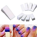 Dealglad 24pc gradiente unghie morbido Spugne per Manicure Colore Fade creative DIY Nail Art Strumenti Accessori