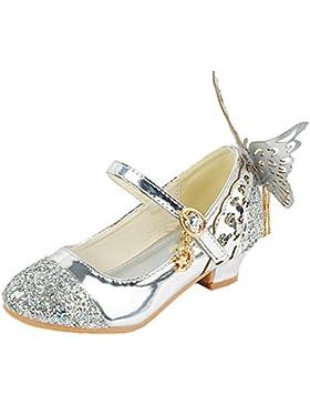 Scothen Princesa Jelly Party Zapatos de Tacón Alto Sandalias Zapatos de apilador con Arte Diamante Niños Chicas...
