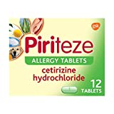 Piriteze Antihistamine Allergy Tablets for Hayfever, 12 s, Cetirizine