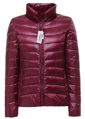 Topgraph Damen Daunenjacke mit Stehkragen Plus Size Ultra Lightweight Coat Jacke Lightdaune