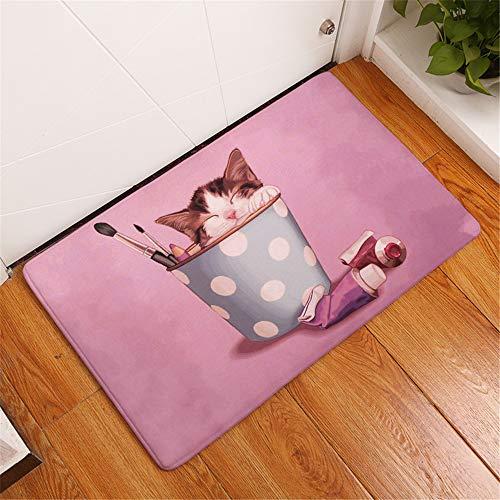 LZYMLG Schlafzimmer Wohnzimmer Türmatte Haustier Mustermatte Küche Bad Saugmatte Kindermatte C 40X60Cm