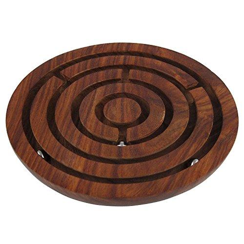 Hölzernes Labyrinth Brettspiel, Ball in Maze Puzzle Handarbeit, hölzerne Labyrinth Puzzle, Ostern Tag / Muttertag / Karfreitag Geschenk (ägyptische 3d-puzzle)